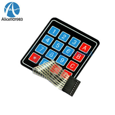 5PCS 4 x 4 Matrix Array 16 Key Membrane Switch Keypad Keyboard for Arduino AVR