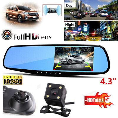 10'' HD 1080P Dual Lens Car DVR Rearview Mirror Dash Cam Recorder + Rear Camera 4