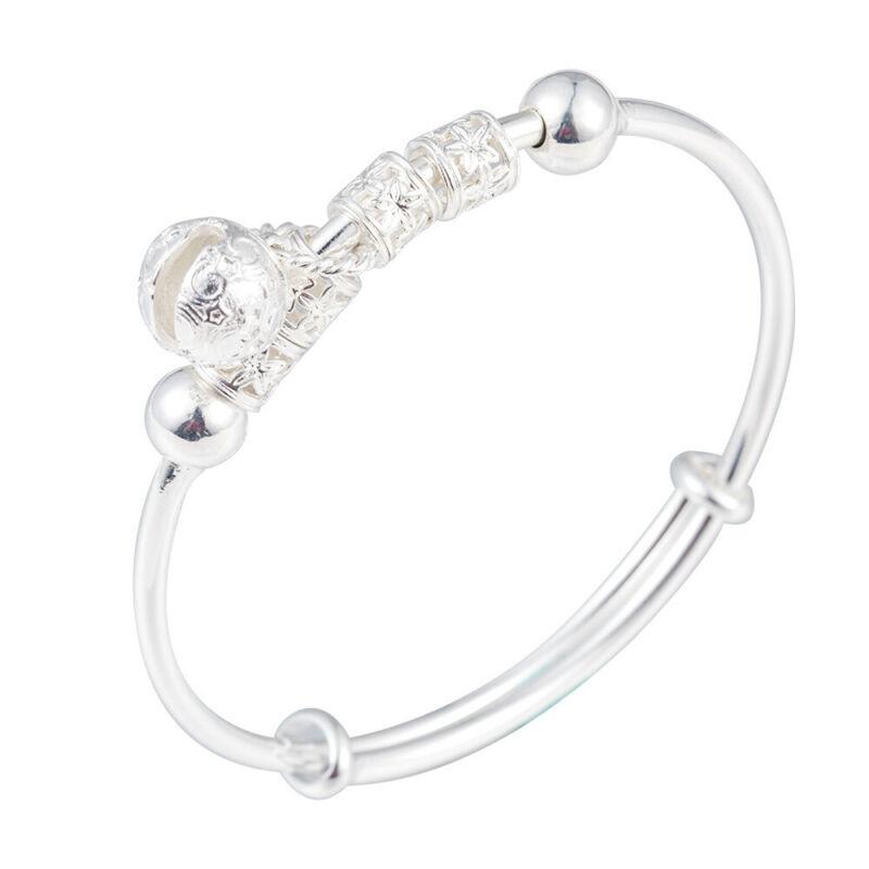 Fashion Women Jewelry 925 Sterling Silver Plated Cuff Bracelet Charm Bangle Gift 9