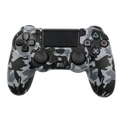 Actecom® Funda + Grip Silicona Camuflaje Gris Mando Sony Ps4 Playstation 4 3