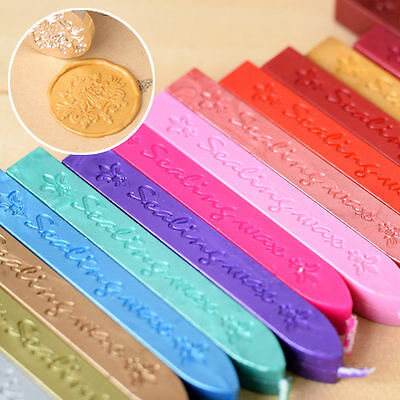 1/5X Traditional Wax Sealing Stick for Letter Stamp Seal Melting Candle Envelope 4