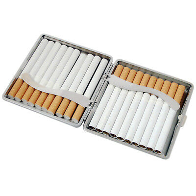 Stainless Steel PU Leather Cigar Cigarette Tobacco Case Pocket Pouch Holder Box 4
