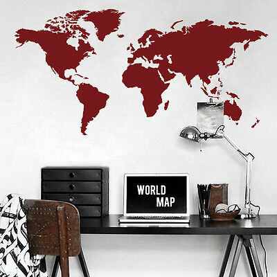 World map wall decal big global vinyl office inspiration room mural 4 of 9 world map wall decal big global vinyl office inspiration room mural decor large gumiabroncs Images