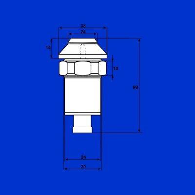 Taster 8200 Serie Schalter Druckschalter Zapfwelle Stop f Massey Ferguson 6200