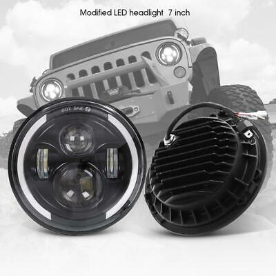 DOT Pair 7 Inch CREE LED Headlights Halo Angle Eye For Jeep Wrangler JK TJ CJ LJ 2