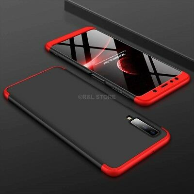 COVER per Samsung Galaxy A7 2018 CUSTODIA Fronte Retro 360° ORIGINALE ARMOR CASE 3