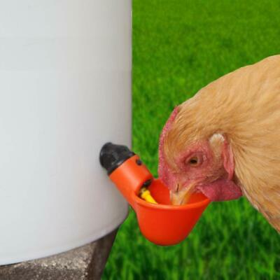 20 Pcs Poultry Water Drinking Cups Plastic Poultry Chicken Hen Automatic Drinker 6
