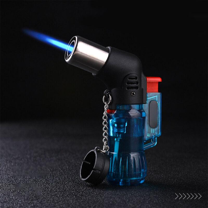 Mini Butane Jet Torch Cigarette Windproof Lighter Random Color Plastic Fire 9