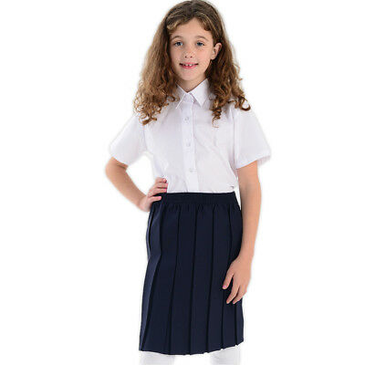Filles Uniforme de l'école Boîte Plissé Taille Élastique Enfants de l/'école Jupe Âge 2-18yrs
