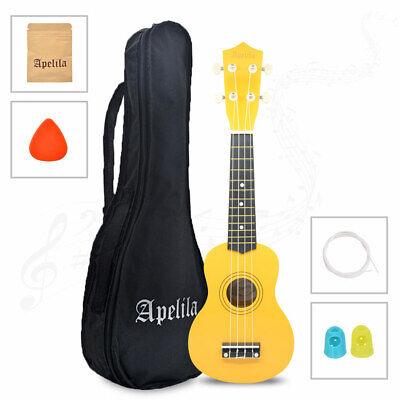 21 inch Soprano Ukulele Apelila Acoustic Mini Guitar Music Instrument + Gig Bag 12