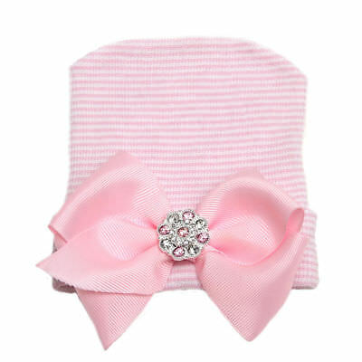 Bonnet souple rayé coloré pour bébé fille avec bonnet nouveau-né 3