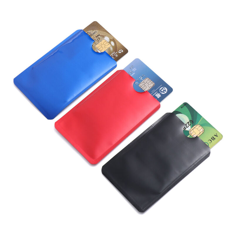 For RFID Secure Protector Blocking ID Credit Card Sleeve Holder Case Skin 10pcs 5