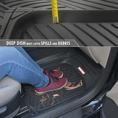 Waterproof TriFlex Rubber Floor Mats for Car Van SUVs Truck w/ Rear Liner Black 5