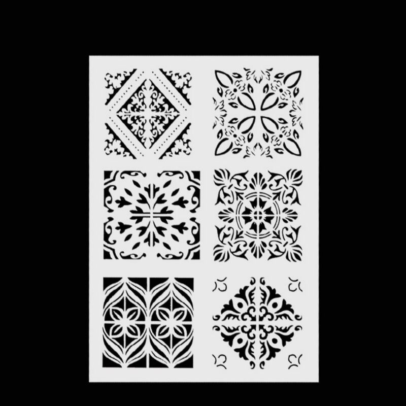 New Plastic Layering Stencils For DIY Scrapbooking Painting Template Paper Cards 2