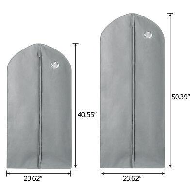 1/5/10Pcs Garment Suit Bag Dress Clothes Coat Cover Breathable Protector Storage 5