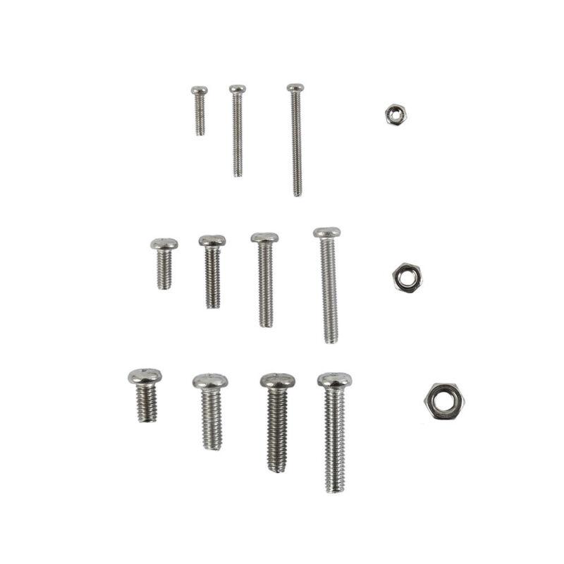 480x M2 M3 M4 Pan Head Machine Screw Cross Round Metric Bolts Nuts Flat Lock US