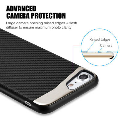 for iPhone 7/8 & 7+/8+ PLUS - Magnetic BLACK Carbon Fiber TPU Rubber Case cover 6