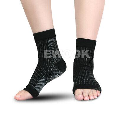2 Pair Foot Sleeve Plantar Fasciitis Compression Socks Achy Swelling Heel Ankle 6