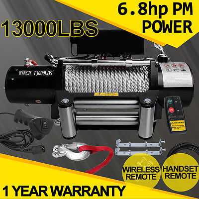 12V 3000LBS-13500LBS Electric Winch Recovery With Wireless Remote ATV Truck Boat