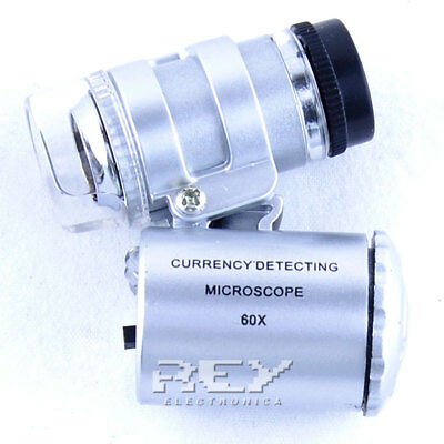 Lupa LED 60X con Funda, Sellos, Monedas, Insectos, Joyas, Relojes, etc...d144 2
