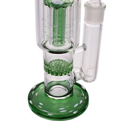 """10"""" Long Straight Glass Vase Bottle Hookah Shisha Smoking  Bongs Set 5"""