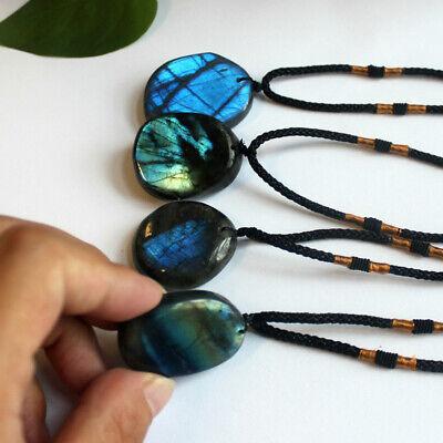 Delicate Natural Labradorite Pendant Crystal Necklace Healing Stone Necklace 5