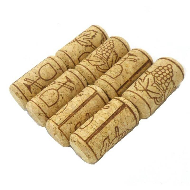 10pc Storage Material Wine Tool Round Cork Wine Stopper Bottle Plug Natural Cork 3