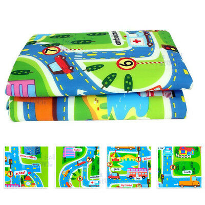 Kids Rug Play Mat Cushion Soft Carpet for Baby Educational Road Traffic City 5