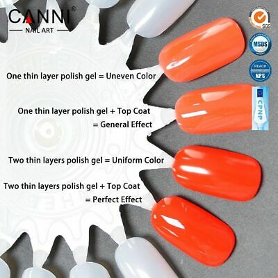 CANNI Nail Gel Polish Colour Coat 7.3ml Soak Off UV / LED Metallic Glittered UK 7