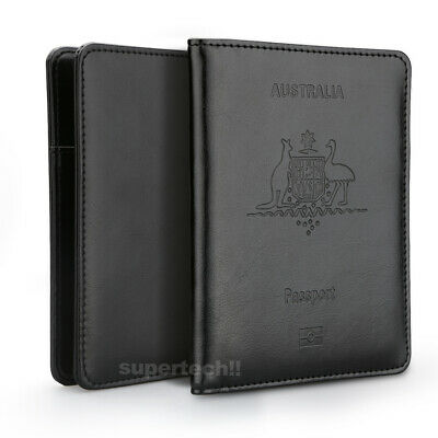 Leather RFID Blocking Passport Travel Wallet Holder ID Credit Cards Cover Case 8