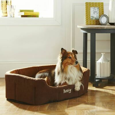 Bunty Lounger Dog Bed Soft Washable Fleece Fur Cushion Warm Luxury Pet Basket 5
