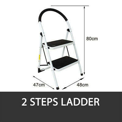 2 Or 3 Step Ladder Multi Purpose  Domestic Household Office Foldable Non Slip 5