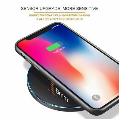 Fast Qi Wireless Charger Dock For iPhone X 8 plus XR XS Samsung S8 S9 plus Note9 9