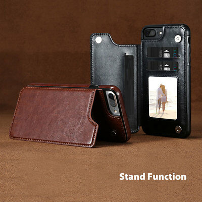 Flip Leather Wallet Case Card Shockproof Cover for iPhone XS Max XR 11 Pro 8 7 4