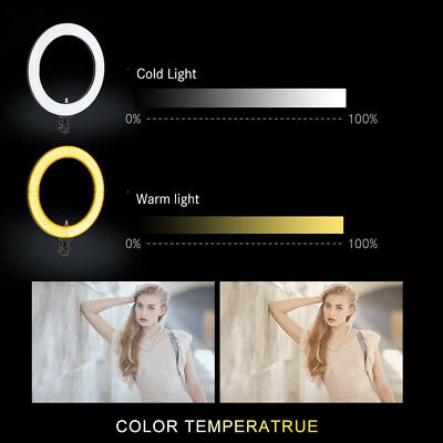 18'' LED SMD Ring Light Kit With Stand Dimmable 5500K For Camera Makeup Phone 6