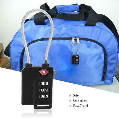 3-digit Luggage Combination Password Lock for Travel Bag Suitcase Door Locker 12