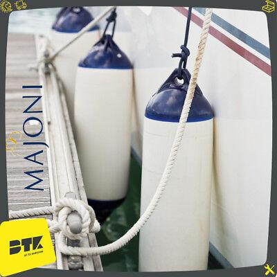 Parabordi Majoni Per Barca Nautica Parabordo In Gomma Bianco Con Testa Blu 2
