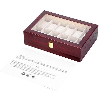 Coffret pour 12 montres boîte à montre boîtier rangement bijoux présentoir FR 10