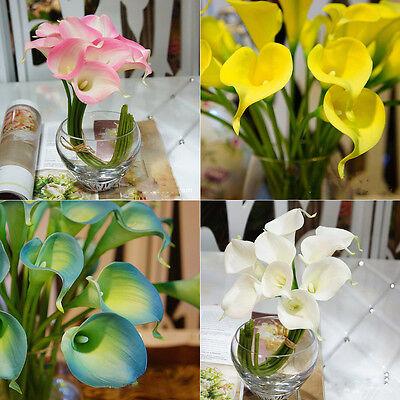 10pcs Calla Lilien Latex Real Beruhren Blumen Hochzeit Geburtstag