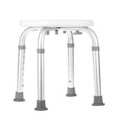 Round Bath Shower Stool Seat Adjustable Height Bathroom Portable Aluminium New