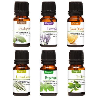 100% Pure Organic Essential Oils 10ml Therapeutic Grade Aromatherapy 12