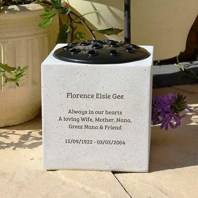 Personalised Customised Memorial Graveside Flower Rose Bowl Vase Pot 3