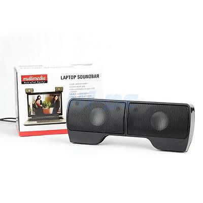 Hot Wall-mounted External Computer USB Speaker Stereo for Music Player Laptop PC 3