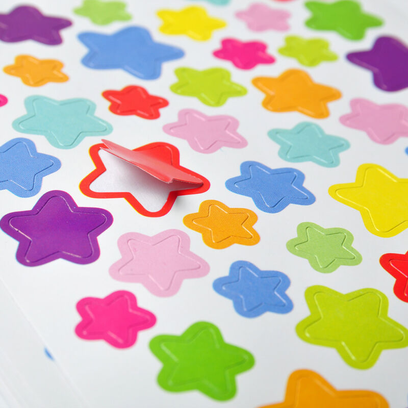 Colorful Star Love Shape Stickers For School Children Teacher Reward DIY CraBSC