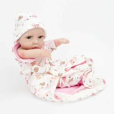 "Lifelike Twins Baby Dolls Full Vinyl Silicone Real Life Doll Babies Girl Boy 10"" 10"