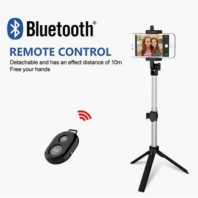 Unipod Selfie Stick Handheld Tripod Bluetooth Shutter For iPhone 11 Pro Samsung 3