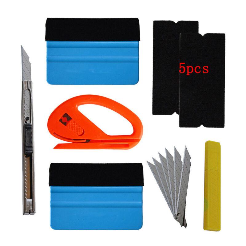 Car Vinyl Wrap Tool 3M Felt Squeegee Carbon Fiber Knife Blade Window Tint Kit PG 3