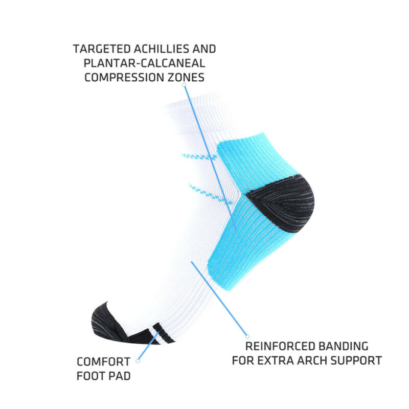 fbae22f381 12pcs Plantar Fasciitis Compression Socks Heel Foot Arch Pain Relief Support  2 2 of 9 ...
