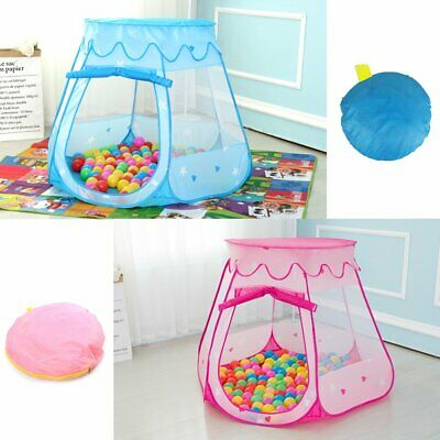 Pink Starry Pop Up Fun Play Tent Playhouse For Girls Kids Baby Children Ball Pit 2