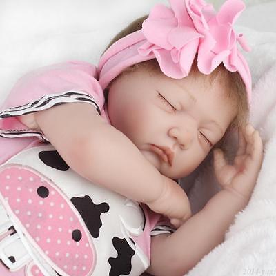 "22"" Handmade Reborn Baby Doll Newborn Lifelike Silicone Vinyl Kids Birth Gifts 5"